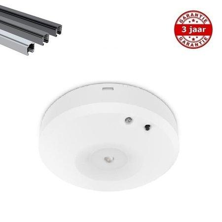 EM-Kosnic Nitro-S OA wit 2,3W, spanningsrail noodverlichting, alleen nood, 150 lumen, IP20