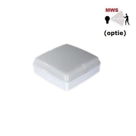 4MLUX Piazza LED Base-line 9,6W, 2700, 3000K of 4000K, 1090 lumen, wit/opaal (optie: bewegingssensor)