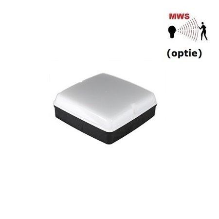 4MLUX Piazza LED Base-line 4,8W, 2700, 3000K of 4000K, 545 lumen, zwart/opaal (optie: bewegingssensor)