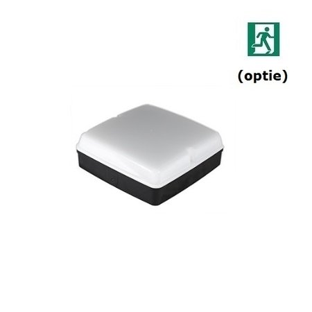4MLUX Piazza LED PLS 10W, 3000K, 830 lumen, zwart/opaal (optie: noodverlichting)