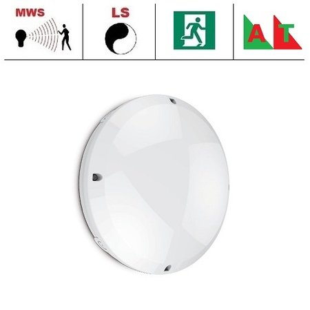 EM-Kosnic Blanca-I Pro LED, 12W, 4000K, 1260 lumen, met bewegingssensor(on/off of on/dim (corridor))/lichtsensor en nood (Autotest)