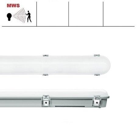 EM-Kosnic Trent Pro LED 1200mm, met bewegingssensor, 20/25/30/35W, 2400-4550 lumen, 3000-6000K CCT met instelbaar wattage en LED kleur, met RVS clipsen