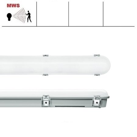 EM-Kosnic Trent Pro LED 1500mm, met bewegingssensor, 27/34/41/48W, 3240-6240 lumen, 3000-6000K CCT met instelbaar wattage en LED kleur, met RVS clipsen