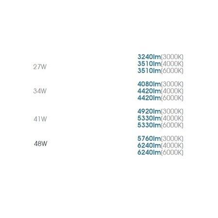 EM-Kosnic Trent Pro LED 1500mm, met nood, 27/34/41/48W, 3240-6240 lumen, 3000-6000K CCT met instelbaar wattage en LED kleur, met RVS clipsen