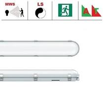 Congo Pro LED 1x1200mm, 24W, met bewegingssensor en nood (Autotest), 2650-2900 lumen, 3000-6000K CCT met instelbare LED kleur, met RVS clipsen