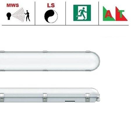 EM-Kosnic Congo Pro LED 1x1200mm, 24W, met bewegingssensor en nood (Autotest), 2650-2900 lumen, 3000-6000K CCT met instelbare LED kleur, met RVS clipsen
