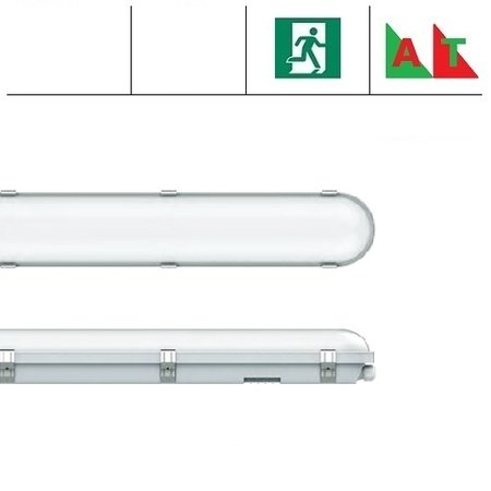 EM-Kosnic Congo Pro LED 1x1500mm, 36W, met nood (Autotest), 3950-4350 lumen, 3000-6000K CCT met instelbare LED kleur, met RVS clipsen