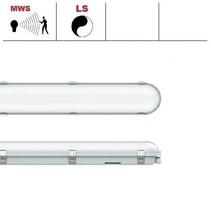 Congo Pro LED 2x1200mm, 36W, met bewegingssensor, 3950-4350 lumen, 3000-6000K CCT met instelbare LED kleur, met RVS clipsen