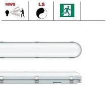 Congo Pro LED 2x1200mm, 36W, met bewegingssensor en nood, 3950-4350 lumen, 3000-6000K CCT met instelbare LED kleur, met RVS clipsen
