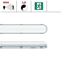 Congo Pro LED 2x1500mm, 62W, met bewegingssensor en nood, 6850-7400 lumen, 3000-6000K CCT met instelbare LED kleur, met RVS clipsen
