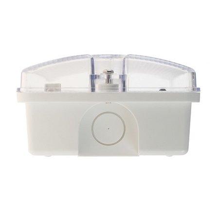 EM - Fox Lux Apollo Pro 3W AT, noodverlichting-vluchtwegverlichting, nood/continu of schakelbaar of alleen nood (Autotest), 170/170 lumen, IP65, wit/helder incl. pictoproset 1