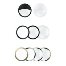 Blanca decoratieve ringen, zwart (ook half afgedekt), mat zwart, wit (ook half afgedekt), chrome, zilver, brons