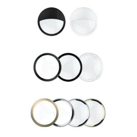EM-Kosnic Blanca decoratieve ringen, zwart (ook half afgedekt), mat zwart, wit (ook half afgedekt), chrome, zilver, brons