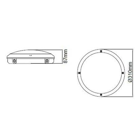 EM-Kosnic Blanca-I Pro LED, 9/12/18W Multi-wattage, 3000/4000K/5000K Multi-LED kleur, 830-1890 lumen met bewegingssensor(on/off of on/dim (corridor))/lichtsensor