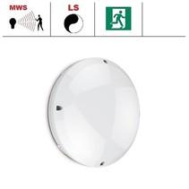 Blanca-I Pro LED, 9/12/18W Multi-wattage, 3000/4000K/5000K Multi-LED kleur, 830-1890 lumen met bewegingssensor(on/off of on/dim (corridor))/lichtsensor en nood
