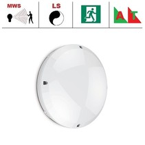 Blanca-I Pro LED, 9/12/18W Multi-wattage, 3000/4000K/5000K Multi-LED kleur, 830-1890 lumen met bewegingssensor(on/off of on/dim (corridor))/lichtsensor en nood (Autotest)
