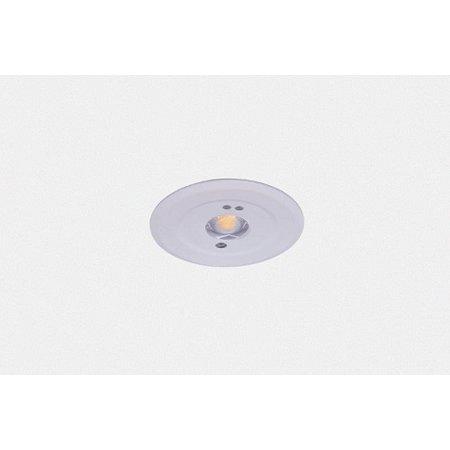 EM - Fox Lux Mini Pro OA wit, 1,5W, alleen nood, inbouwnoodverlichtig, open ruimte , OA 150 lumen, 125°, IP20 (Autotest uitvoering is optie middels REM10)