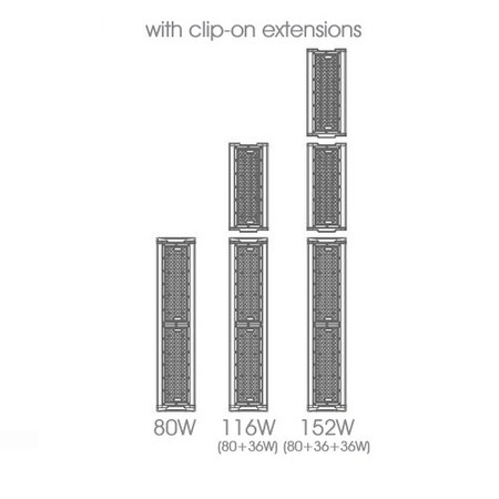 EM-Kosnic (basis is 80W, apart bestellen) Culumus 36W toevoeging, 5760 lumen, 5000K, 40° LED Low Bay