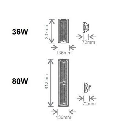 EM-Kosnic (basis is 80W, apart bestellen) Culumus 36W toevoeging, 5760 lumen, 5000K, 90° LED Low Bay