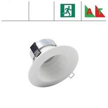 Faceta 8W CCT, met nood (Autotest), 3000/4000/5000K LED downlighter, 350-400 lumen