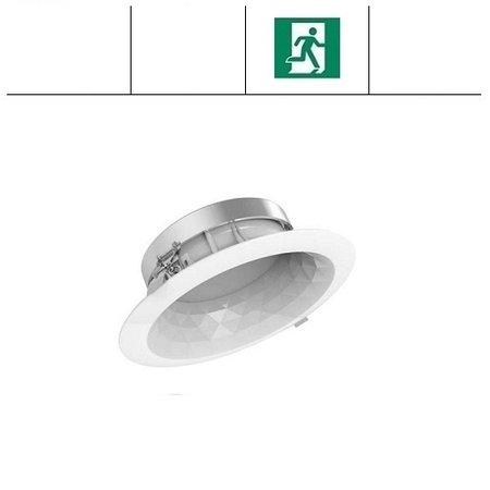 EM-Kosnic Faceta 24W CCT, met nood, 3000/4000/5000K LED downlighter, 1700-1800 lumen