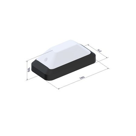 4MLUX KTP Pro LED serie 4W, 12/24/42V berging verlichting, 3000 of 4000K, 520 lumen met wit of zwart poly-carbonaat onderhuis en opalen of heldere-frosted poly-carbonaat lichtkap
