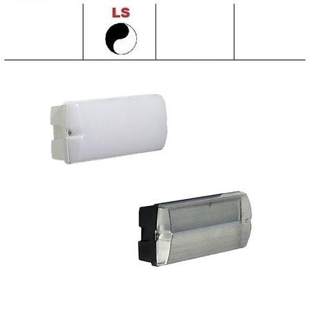 4MLUX Rhea Pro LED serie 5,2W, met lichtsensor, portiek/galerijverlichting, 3000 of 4000K, 660 lumen met wit of zwart poly-carbonaat onderhuis en opalen of heldere poly-carbonaat lichtkap
