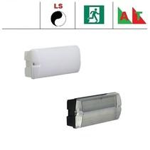 Rhea Pro LED serie 5,2W, met lichtsensor en nood (Autotest), portiek/galerijverlichting, 3000 of 4000K, 660 lumen met wit of zwart poly-carbonaat onderhuis en opalen of heldere poly-carbonaat lichtkap