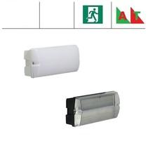Rhea Pro LED serie 5,2W, met nood (Autotest), portiek/galerijverlichting, 3000 of 4000K, 660 lumen met wit of zwart poly-carbonaat onderhuis en opalen of heldere poly-carbonaat lichtkap
