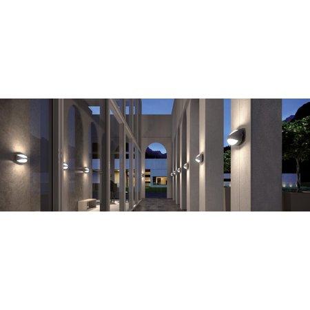 4MLUX Elda LED, 8W, met lichtsensor, 2700, 3000 of 4000K, aluminium behuizing in antraciet, wit of grijs met glazen lichtkap
