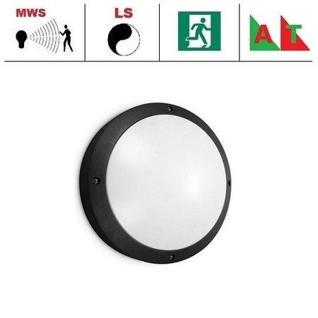 EM-Kosnic Etna LED DD, bewegingssensor on/off of on/DIM(corridor-functie) en nood (Autotest), met LED PLQ 9/12/18W Multi-wattage en 3000/4000/5000K Multi-kleur instelbare LED lichtbron