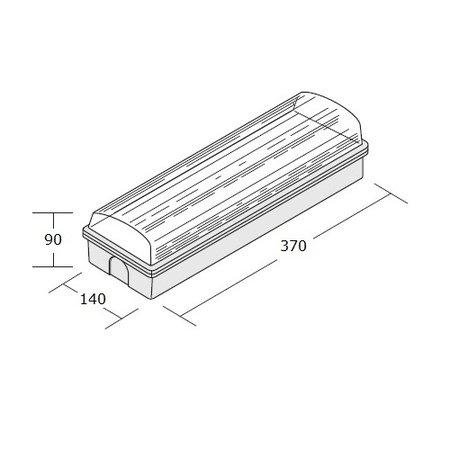 4MLUX Titan Pro LED serie, portiek/galerijverlichting, ALLEEN nood (Autotest), 3000 of 4000K, 225 lumen (in noodbedrijf) met lichtgrijs poly-carbonaat onderhuis en opalen of heldere poly-carbonaat lichtkap