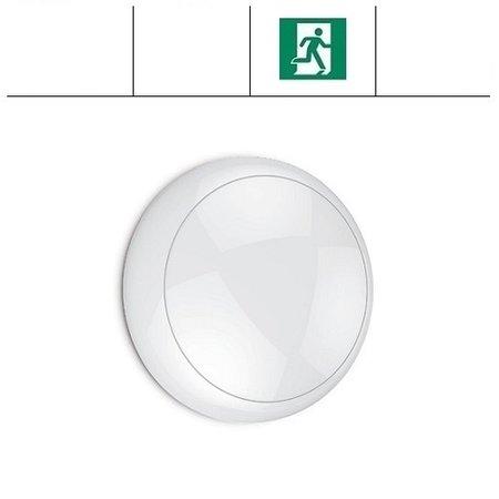 EM-Kosnic Blanca LED DD IP65 met witte rand en LED PLQ 9/12/18 W Multi-wattage en 3000/4000/5000K Multi-kleur instelbare LED lichtbron, incl. Nood