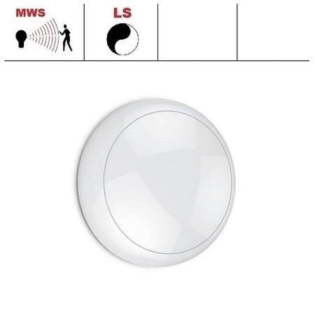 EM-Kosnic Blanca LED DD IP65 met witte rand  en bewegingssensor on/off of on/DIM(corridor-functie), LED PLQ 12W 2700 of 4000K LED lichtbron, keuze maken bij bestelling