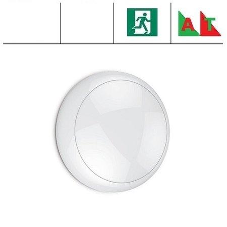 EM-Kosnic Blanca LED DD IP65 met witte rand en LED PLQ 9/12/18 W Multi-wattage en 3000/4000/5000K Multi-kleur instelbare LED lichtbron, incl. Nood (Autotest)