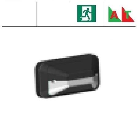 4MLUX KTH Pro LED serie 9,6W, met nood (Autotest), portiek/galerijverlichting, 3000 of 4000K, 1220 lumen met wit of zwart poly-carbonaat onderhuis en opalen of heldere-frosted poly-carbonaat lichtkap