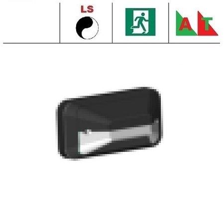 4MLUX KTH Pro LED serie 9,6W, met lichtsensor met nood (Autotest), portiek/galerijverlichting, 3000 of 4000K, 1220 lumen met wit of zwart poly-carbonaat onderhuis en opalen of heldere-frosted poly-carbonaat lichtkap