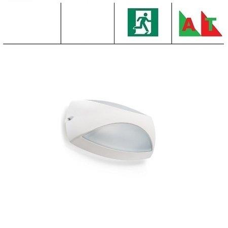 4MLUX Elda LED, 8W, met nood (Autotest), 2700, 3000 of 4000K, aluminium behuizing in antraciet, wit of grijs met glazen lichtkap