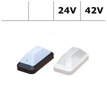KTP Pro LED serie 7,8W, 24/42V berging verlichting, 3000 of 4000K, 1210 lumen met wit of zwart poly-carbonaat onderhuis en opalen of heldere-frosted poly-carbonaat lichtkap