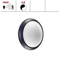 Xeno XL LED serie 13,5W, hal en trappenhuisverlichting, met bewegingssensor ON/OFF en lichtsensor, 3000 of 4000K, 1690 lumen met antraciete ring en opalen polycarbonaat lichtkap