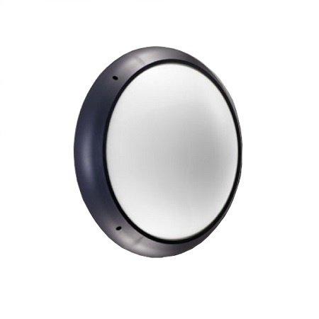 4MLUX Xeno XL LED serie 7,4W, hal en trappenhuisverlichting, 3000 of 4000K, 960 lumen met antraciete ring en opalen polycarbonaat lichtkap