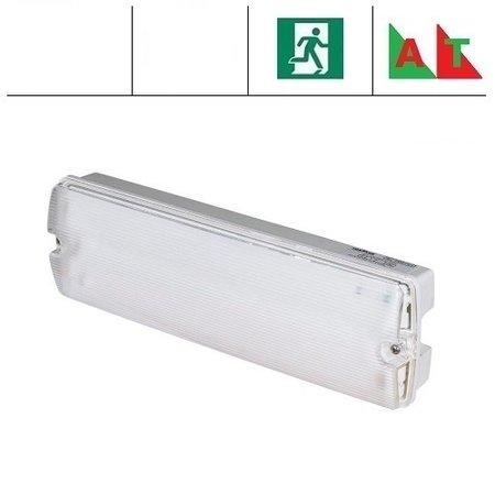 EM - Fox Lux Apollo Pro 3W AT, noodverlichting-vluchtwegverlichting of anti paniekverlichting, nood/continu of schakelbaar of alleen nood (Autotest), 170/170 lumen, IP65, wit/helder