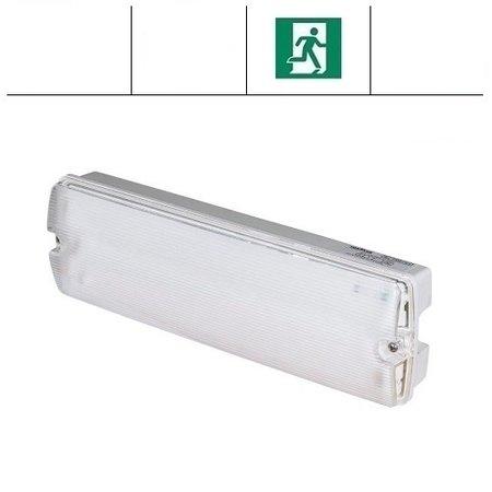 EM - Fox Lux Apollo Pro 12W (1400 lumen), noodverlichting-vluchtwegverlichting of anti paniekverlichting, nood/continu of schakelbaar of alleen nood, 1400/170 lumen, IP65, wit/helder