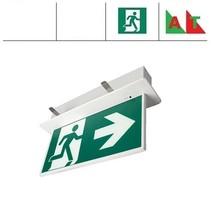 Blade-I Pro AT, inbouw noodverlichting-vluchtwegverlichting, nood/continu of schakelbaar of alleen nood (Autotest), IP20, wit incl. pictogram naar keuze