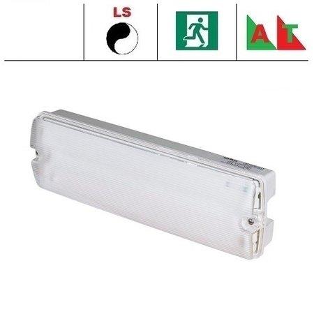 EM - Fox Lux Apollo Pro 5W AT met lichtsensor, noodverlichting-vluchtwegverlichting of anti paniekverlichting, nood/continu of schakelbaar of alleen nood (Autotest), 320/320 lumen, IP65, wit/helder