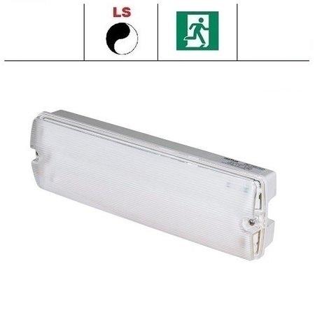 EM - Fox Lux Apollo Pro 12W (1400 lumen) met lichtsensor, noodverlichting-vluchtwegverlichting of anti paniekverlichting, nood/continu of schakelbaar of alleen nood, 1400/170 lumen, IP65, wit/helder