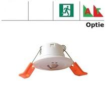 Mini Pro OA wit, 1,5W, alleen nood, inbouw noodverlichtig, open ruimte , OA 150 lumen, 125°, IP20 (Autotest uitvoering is optie middels REM10)