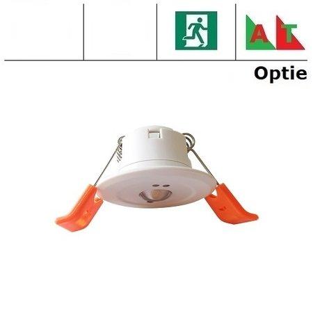 EM - Fox Lux Mini Pro OA wit, 1,5W, alleen nood, inbouw noodverlichtig, open ruimte , OA 150 lumen, 125°, IP20 (Autotest uitvoering is optie middels REM10)