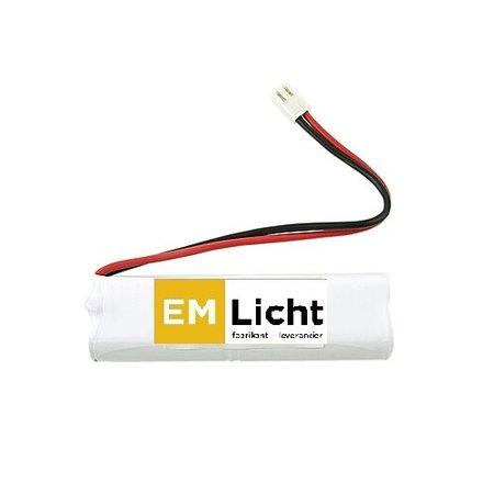 4MLUX Batterij 4,8V-1,3Ah, 2 x staaf, AA cel, NiMH, afmetingen: L 100 x H 28, met connector CT03