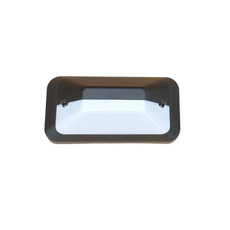 4MLUX KTH Pro LED serie 5,2W, portiek/galerijverlichting, 3000 of 4000K, 660 lumen met wit of zwart poly-carbonaat onderhuis en opalen of heldere-frosted poly-carbonaat lichtkap